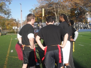 Beating my students in a staff vs. student flag football game