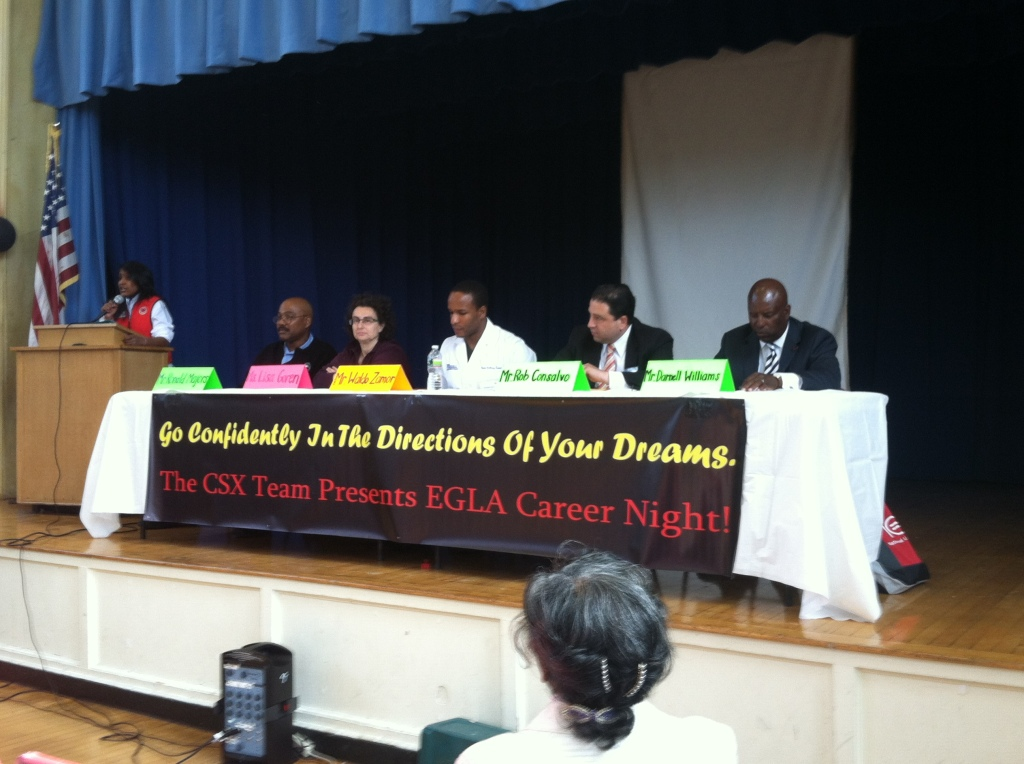 The panel of speakers to kick off our Career Night.