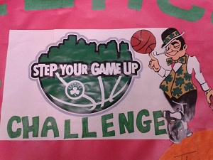 Posters hanging in the school remind students about the challenge.