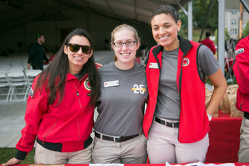 Program Managers Jasmin Lopez, Emily Bekenstein, and Cristin Forrest  at Red Jacket Weekend.